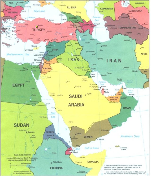 No Borders Here: Community: World Map: Middle East