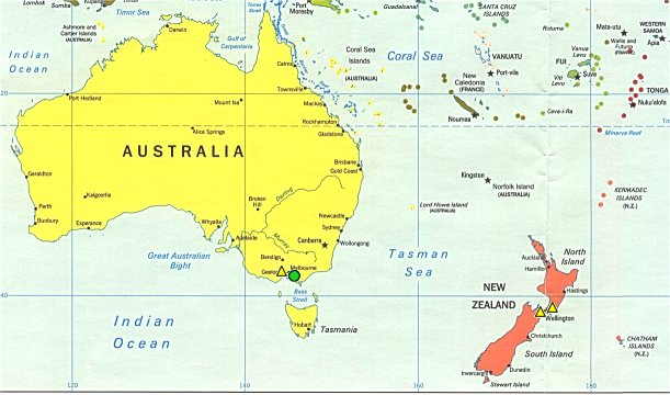 No Borders Here Community World Map Australia And Southwest Pacific - Australia in world map